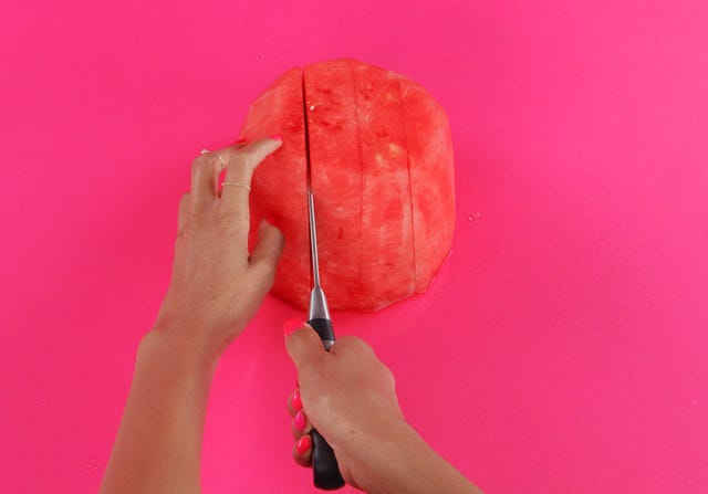 how to cut watermelon into balls