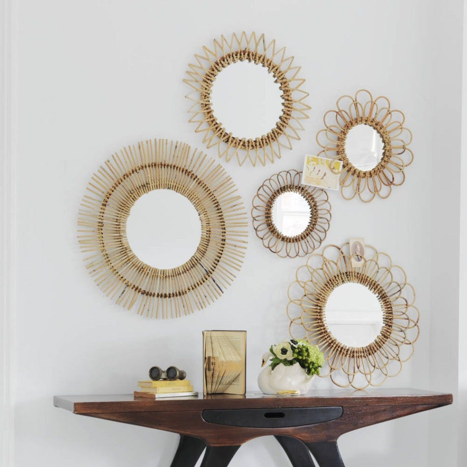 Decorating ideas for rentals - Mirrors decoration on the wall ...