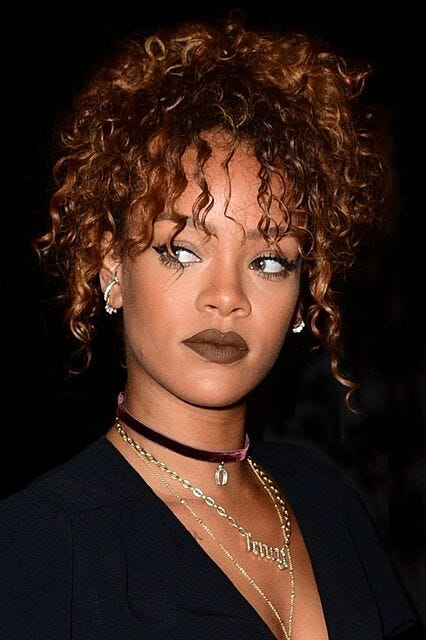 Rihanna Best Colored Lipstick Looks