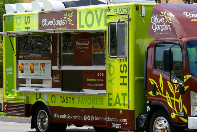 Olive garden food truck boston north end complaint for Who owns olive garden