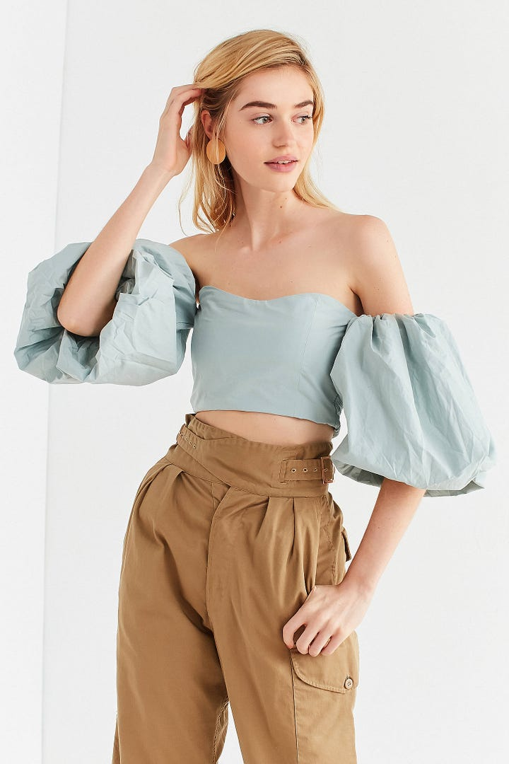 how to wear off the shoulder tops to work