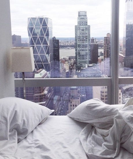 One Room Apartment Nyc: Comfy Beds Cozy Bedroom Decor Pictures