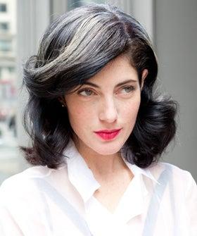Black Hair Grey Streaks - Impression Hair Style