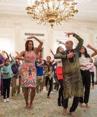 Awesome: Michelle Obama Dances At A Press Conference