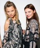 Backstage at Preen: Skirt Shots, Shoe Porn, and Hanne and Magdalena In Spring's New Frocks
