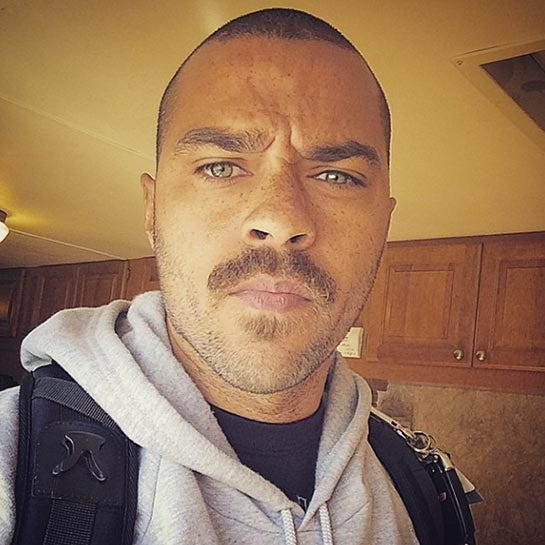 Jesse williams debuted his fun new mustache on instagram we just love