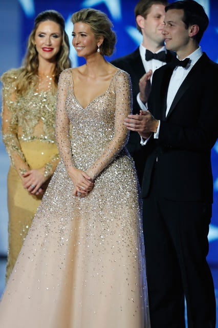 Ivanka Trump Sparkled At The Inaugural Ball