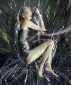 Model Soo Joo Park Gets Shrink-Wrapped In The Name Of Fashion