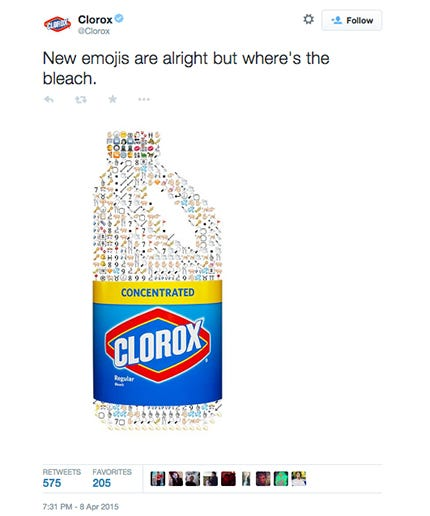 Screenshot of Clorox's original tweet