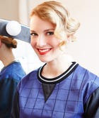 This Retro-Glam Hairstyle Is A Holiday-Party Home Run