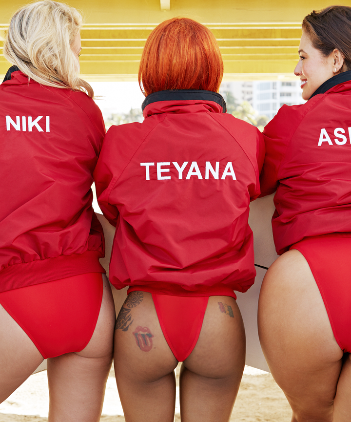 Ashley Graham Baywatch Red Swimsuits For All Photos