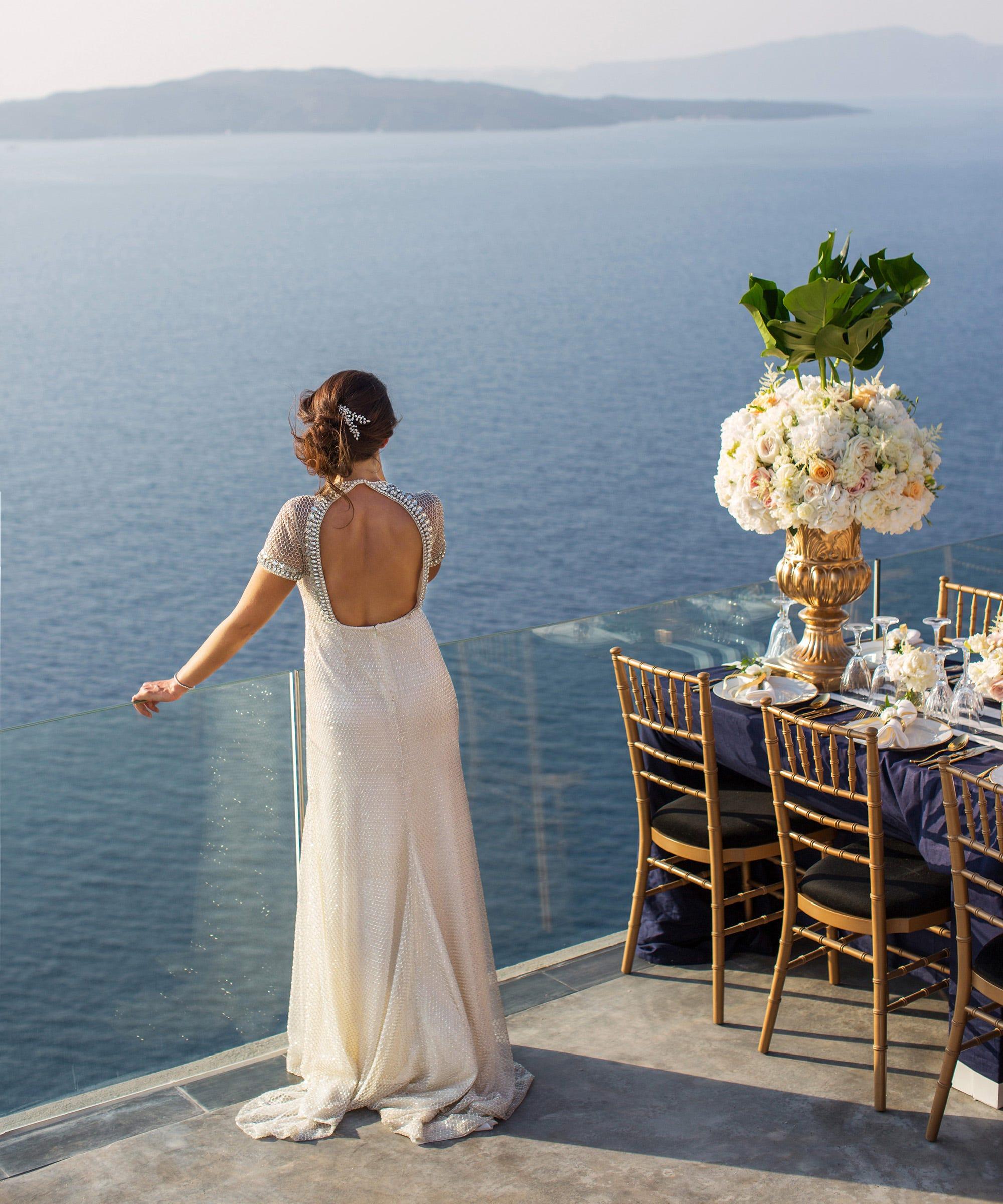 Sofia Crokos Santorini Greece Wedding Pictures