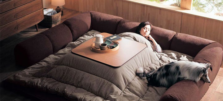 Japanese Couch Bed Kotatsu Winter Warmth