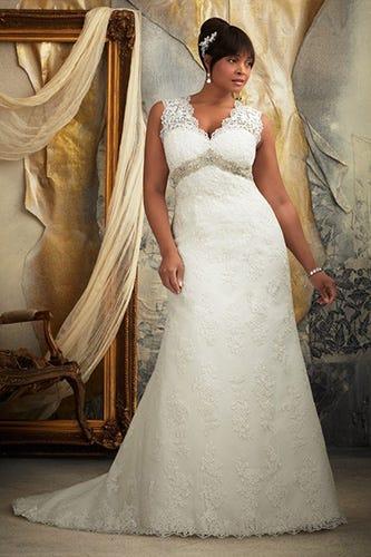 861c34cd76952 Plus Sized Wedding Dresses-Flattering Styles