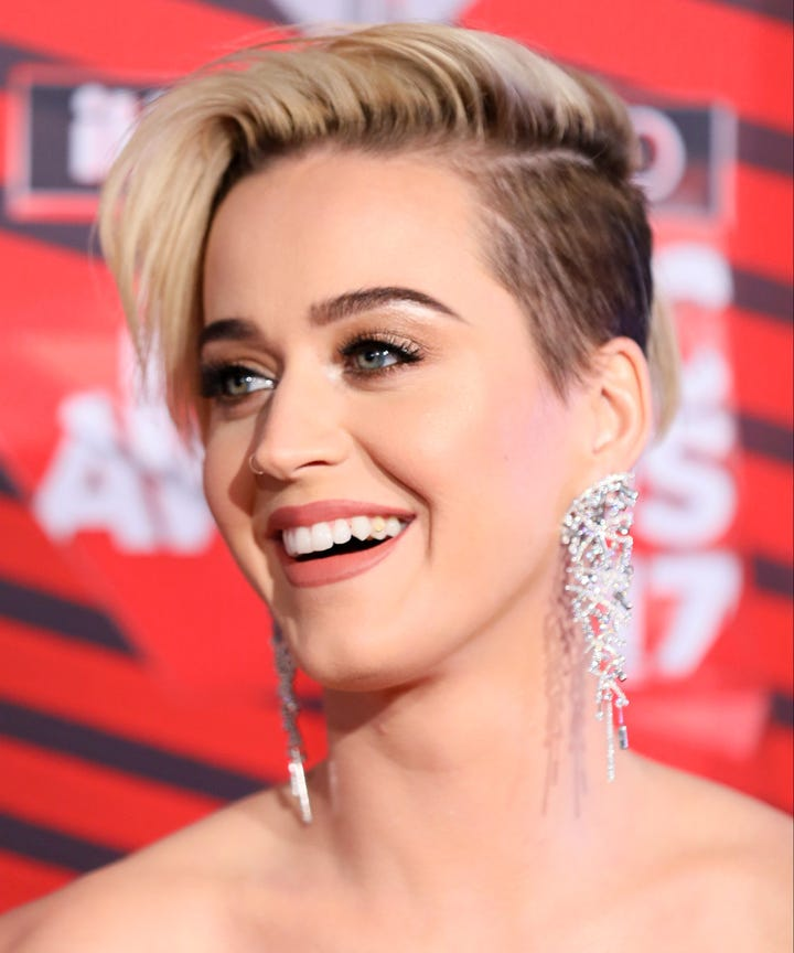 Katy Perry Pixie Haircut Inspiration Reveal Iheart 2017