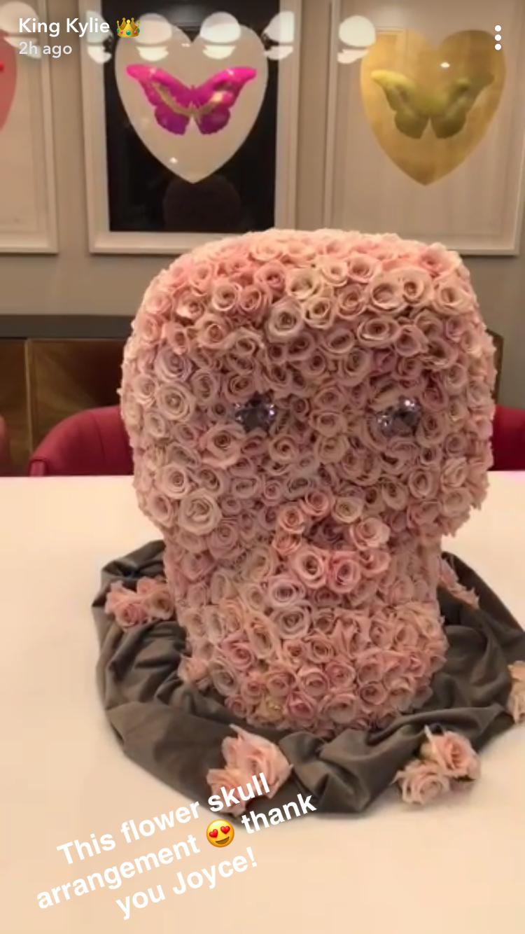 Kylie Jenner Baby Stormi Webster Flower Arrangements