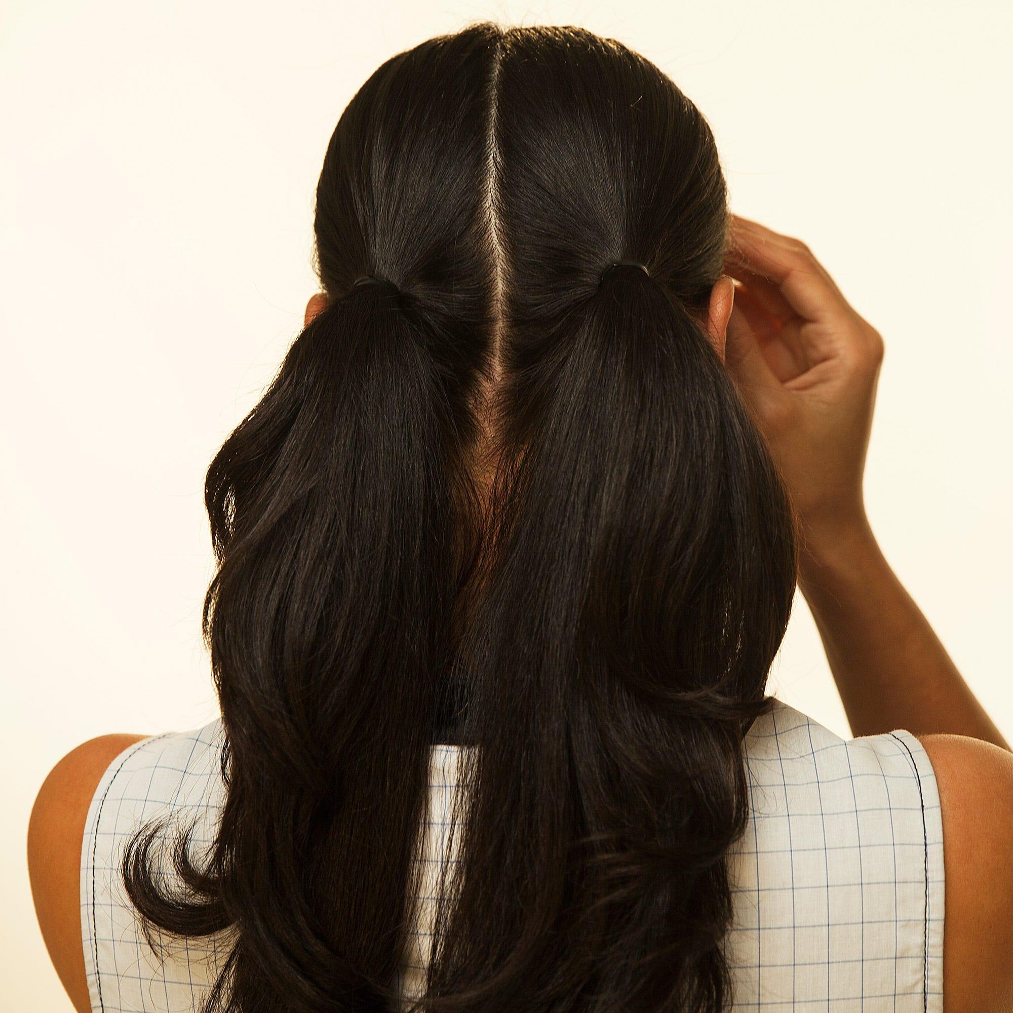 Adult Pigtails Bun Volume Hairstyle Tutorial Video