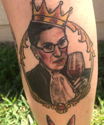 notorious rbg ruth bader ginsburg glass of wine