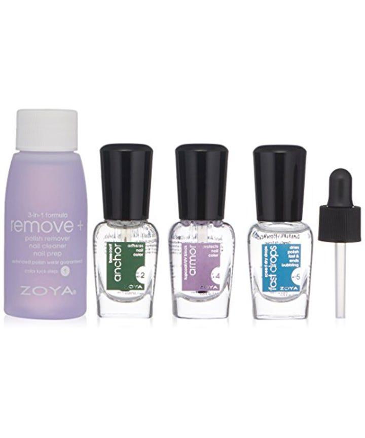 At Home Manicure Nail Polish - Remover, Top Base Coat