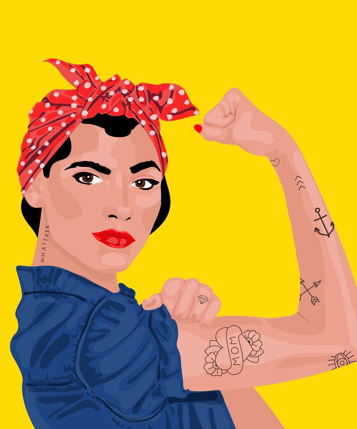Rosie The Riveter Costume Diy Halloween Photos