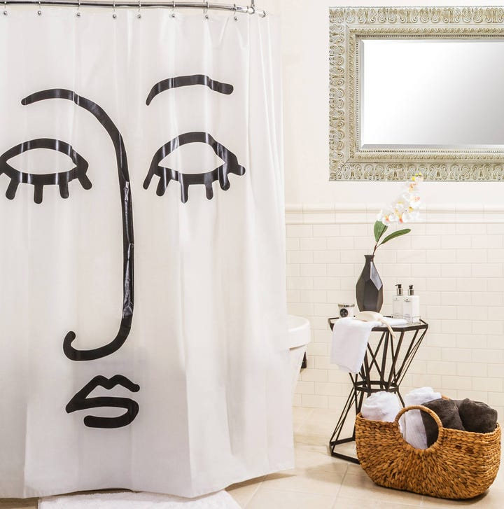 This Monochrome Curtain Is A Low Cost Way To Feature Surrealist Art Into Your Home