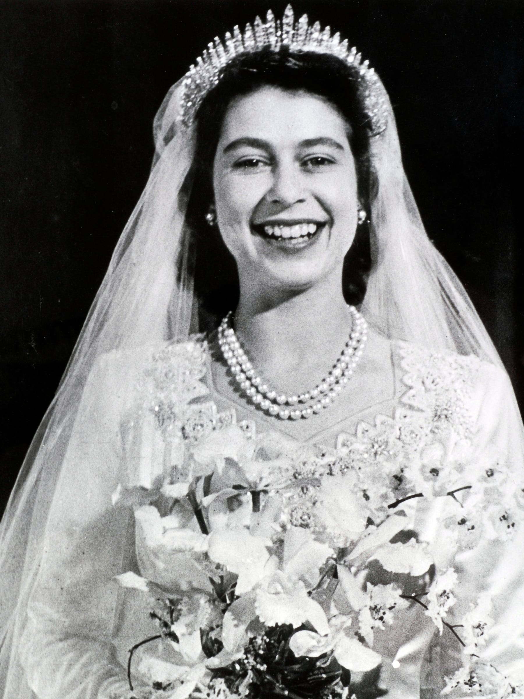 Queen Elizabeth Wedding Tiara Engagement Ring - History