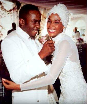 The Wedding Day Whitney Houston Bobby Brown