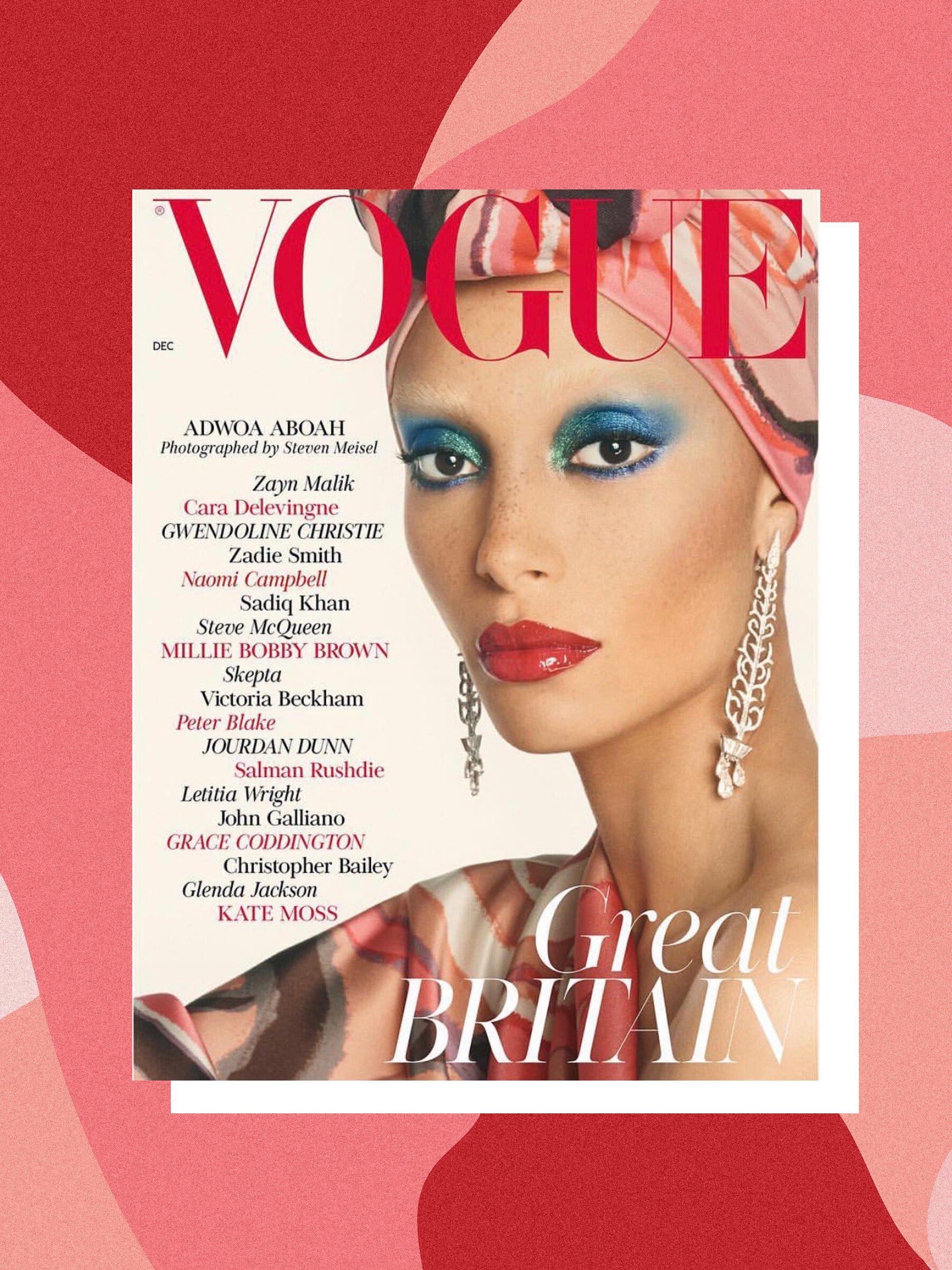 6cca6f9ba20e6 Black Models British Vogue Covers Adwoa Aboah