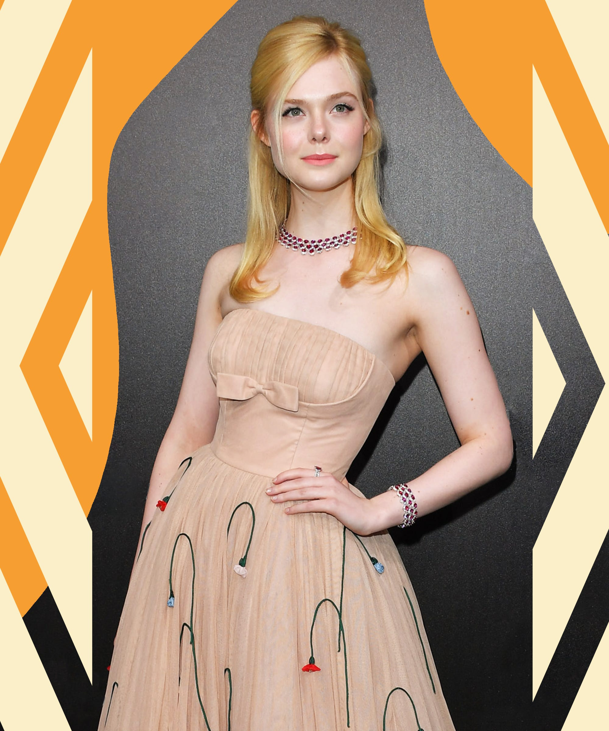 Elle Fanning's Cannes Dress Was So Tight It Made Her Faint