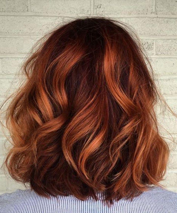 Fallayage Copper Auburn Hair Shade Autumn Winter 2017