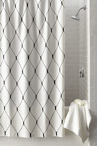 Legacy Home Linea Graphic Diamond Shower Curtain 220 Available At Neiman Marcus