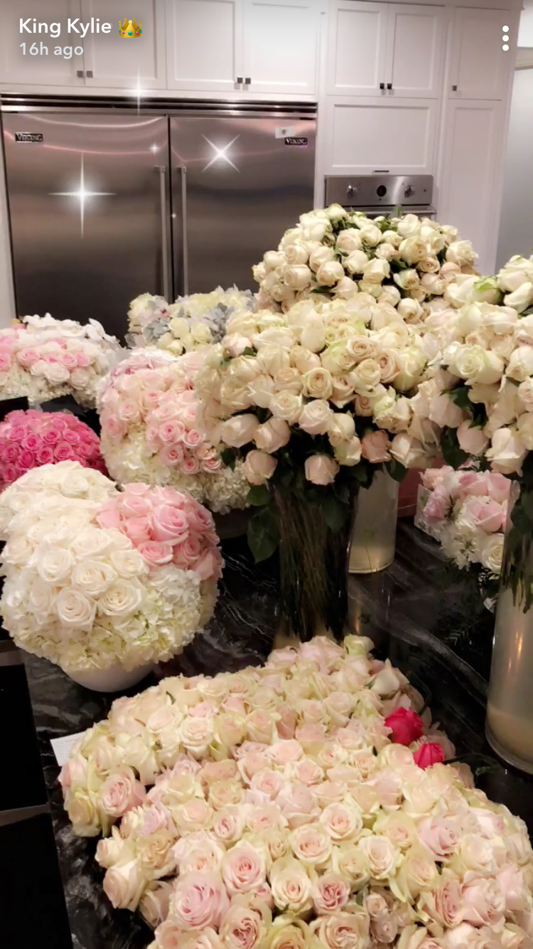 Kylie Jenner Baby Stormi Webster Flower Arrangements