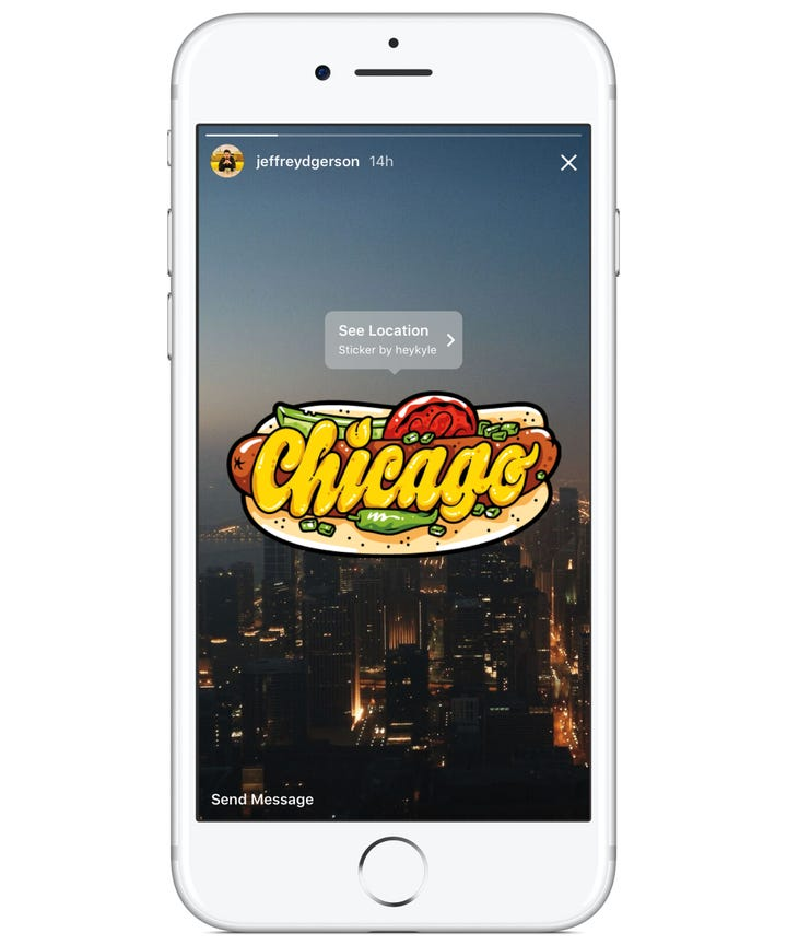 Instagram stories selfie sticker pinning geostickers besides stickers there are also a few new user tools in todays update instagram stories is taking another cue from snapchat and launching pinning ccuart Images
