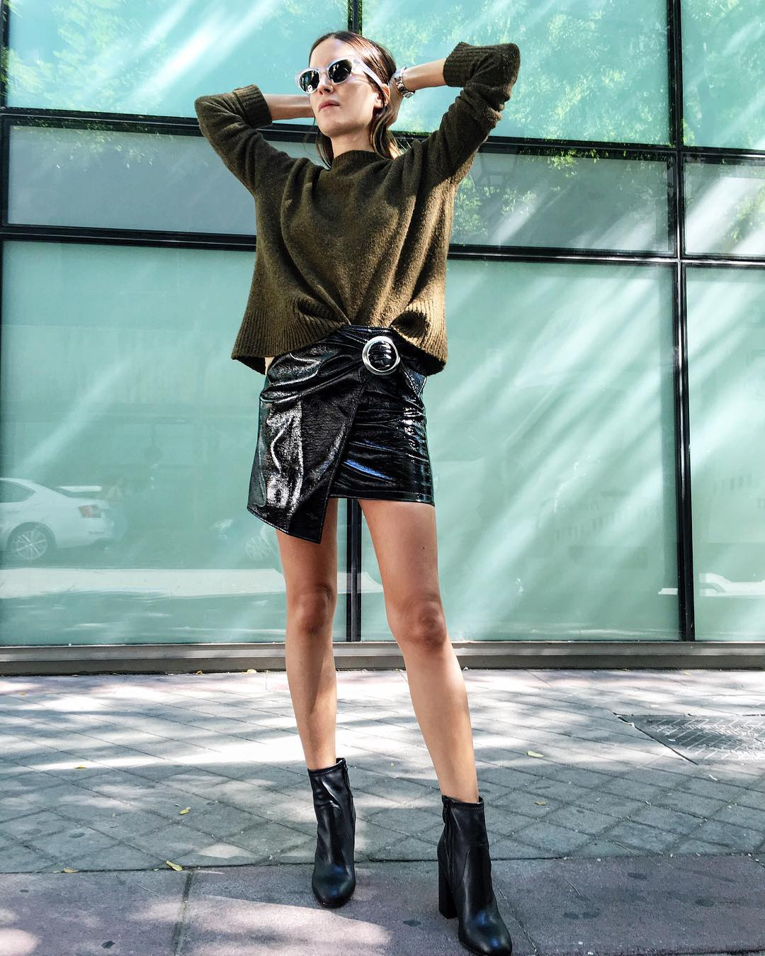 db513612c Patent Leather Skirt Trend Styling Tips Photos
