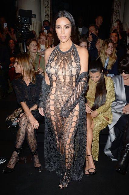 Kim Kardashian Sheer Outfit Layering Fall Trend PFW dec6cc6a0