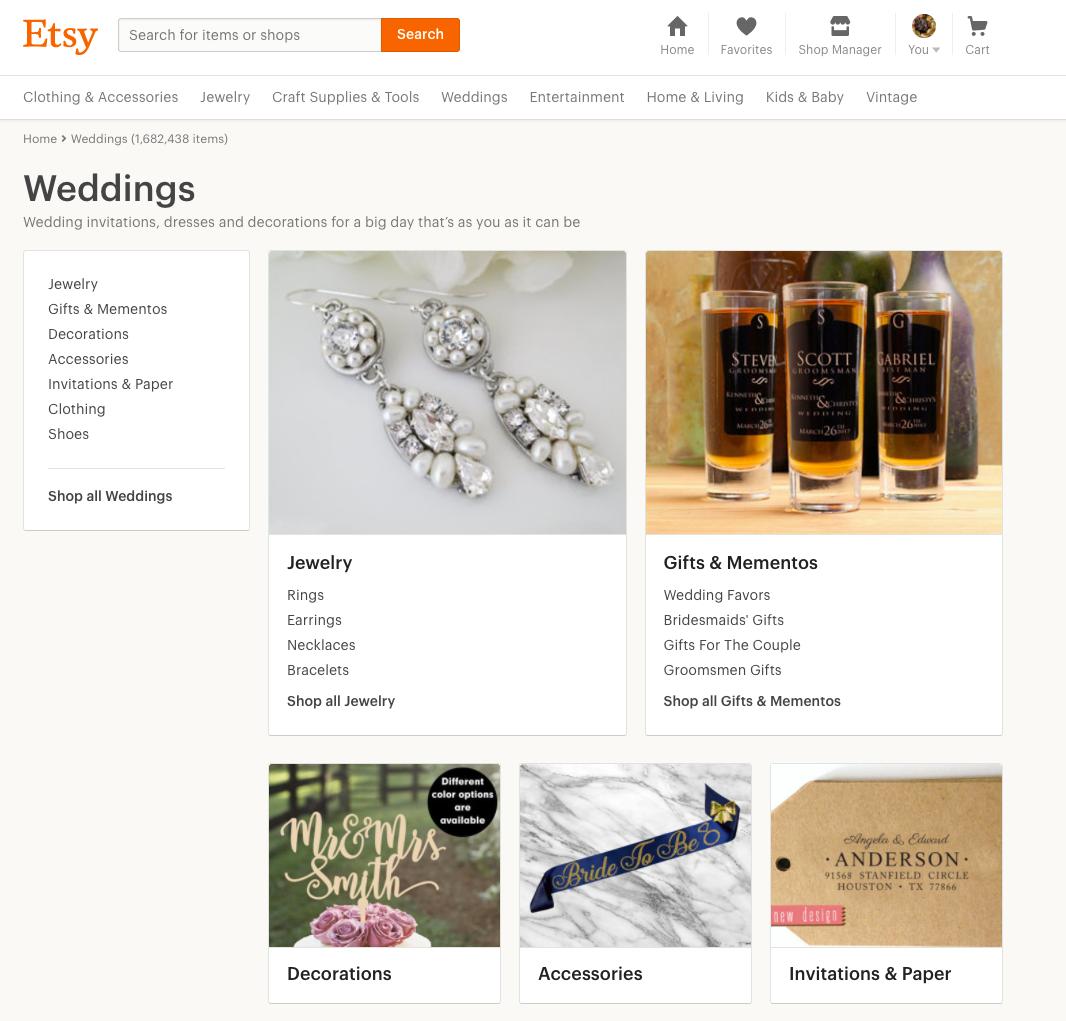 Amazon Handmade Wedding Shop Launch - Decor Accessories