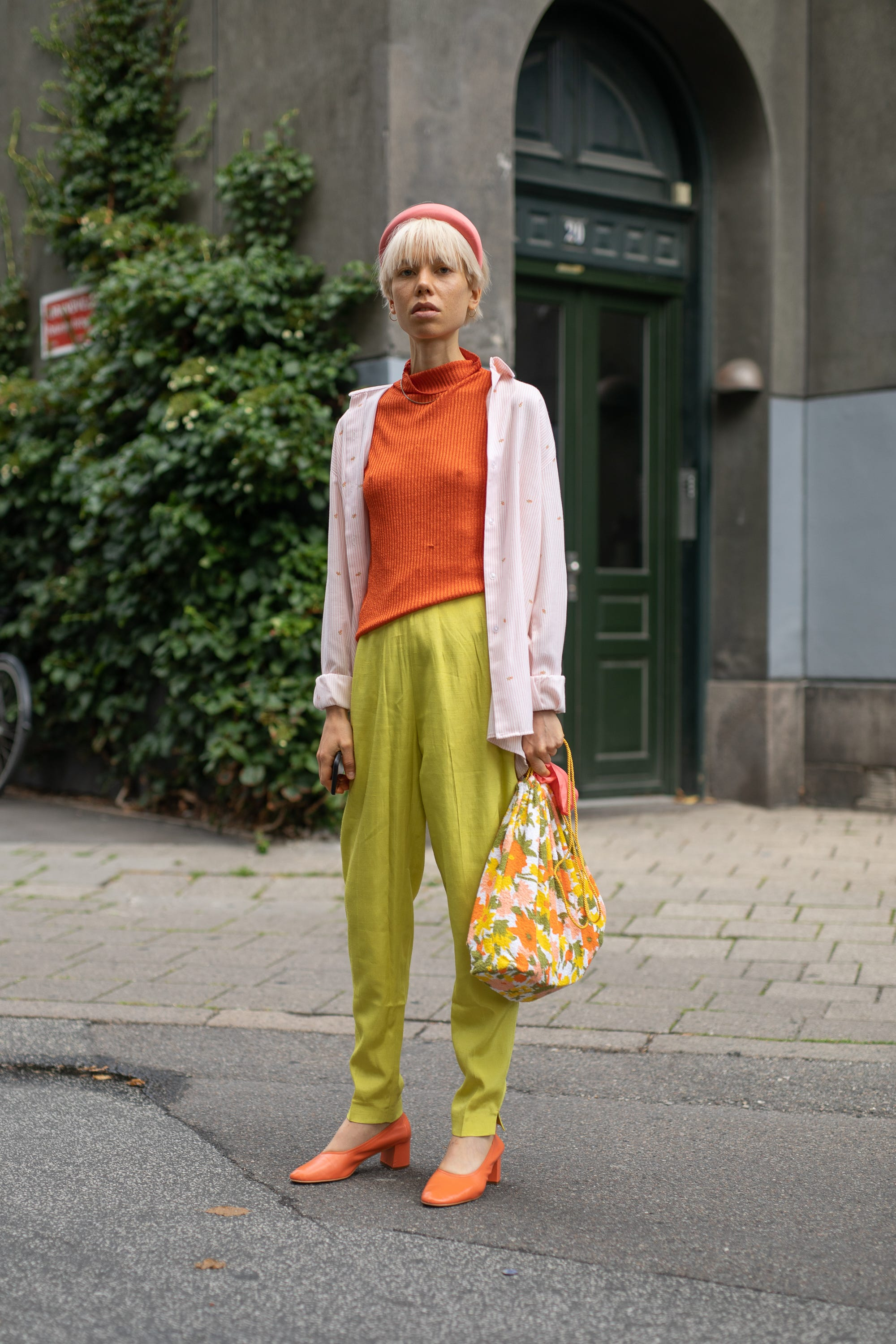 Image result for copenhagen fashion week street style tangerine lime