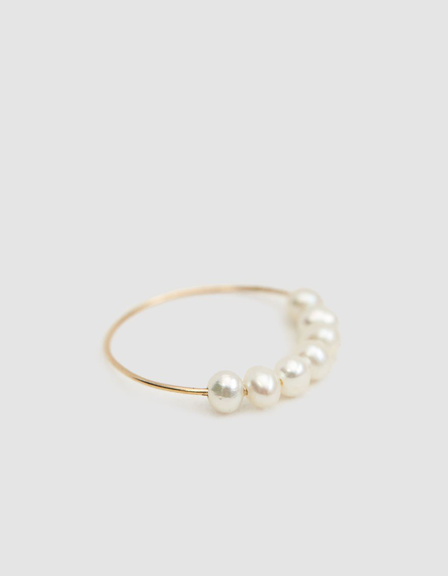 Pearl Wedding Rings.Gold Pearl Ring