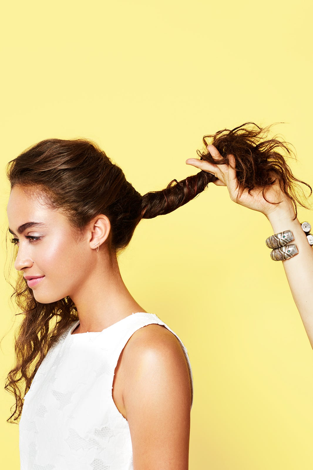Curly Hair Updo Styling Ideas
