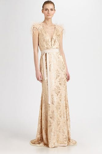 Badgley Mishka Lace Silk Gown 980 At Saks