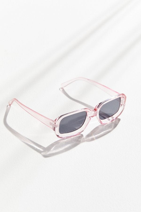 5560e7cdf6 Urban Outfitters. Gazzy Rectangle Sunglasses.  18.00. BUY