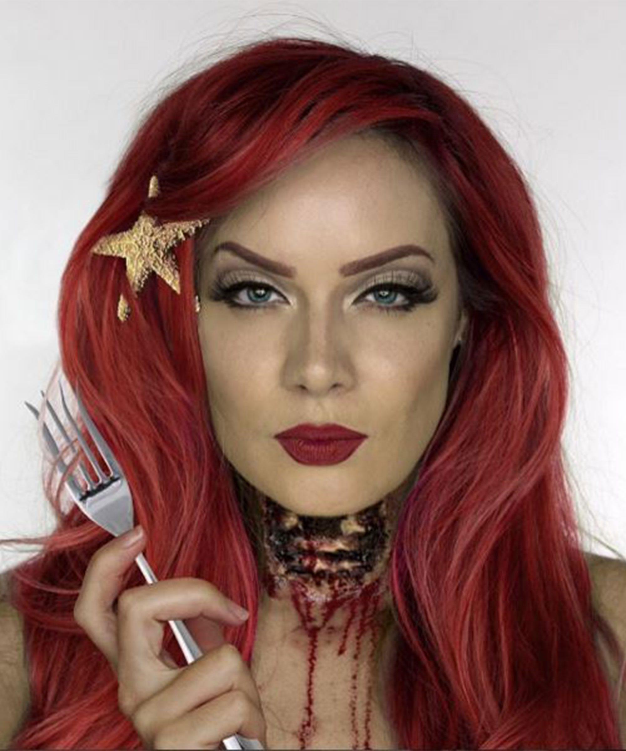 Scary Creepy Fake Blood Instagram Face Photos - Gore-makeup