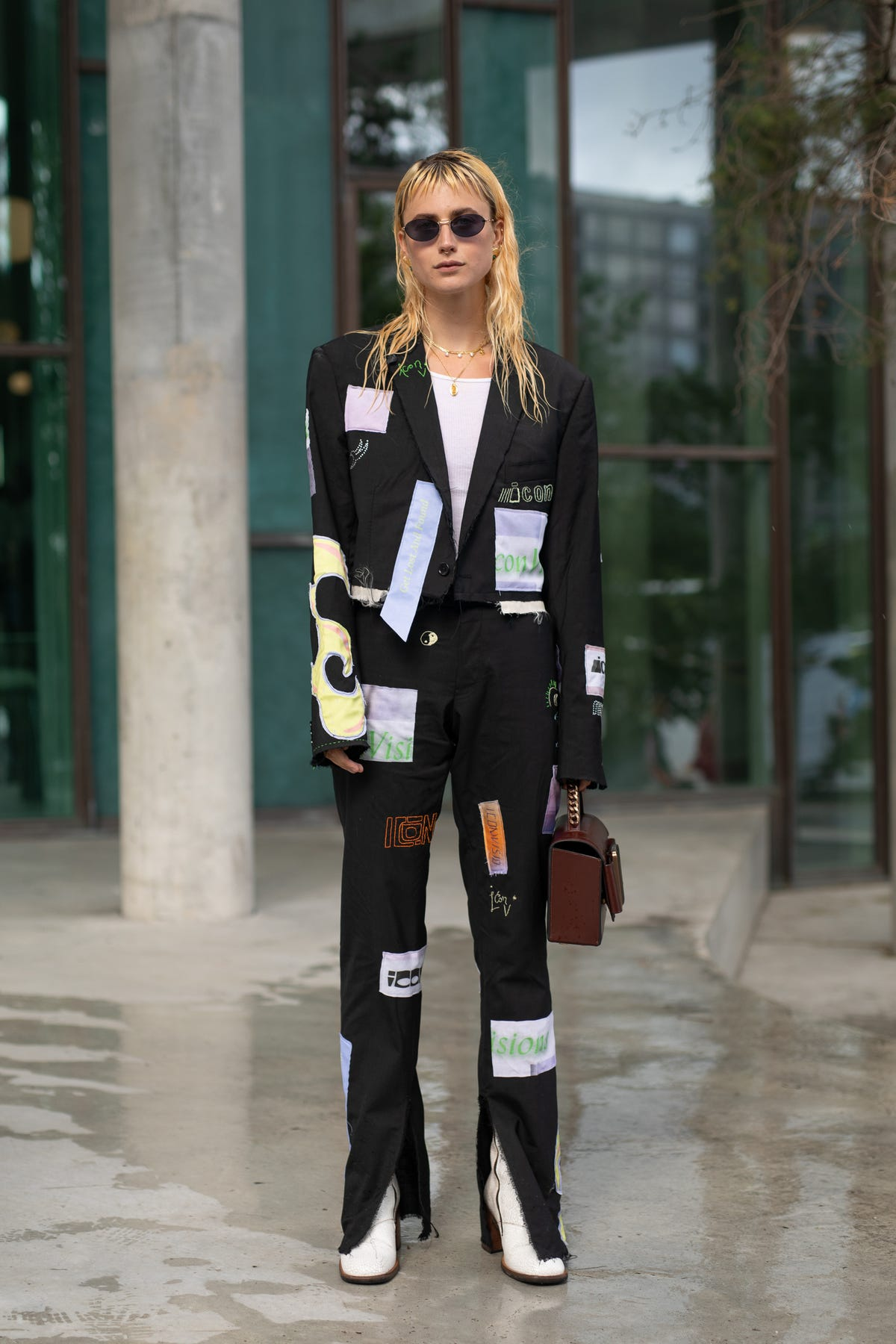 Image result for copenhagen fashion week street style refinery29 patchwork suit