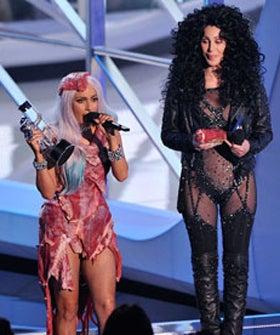 Lady Gaga Wears Meat Dress-Born This Way Lady Gaga Album