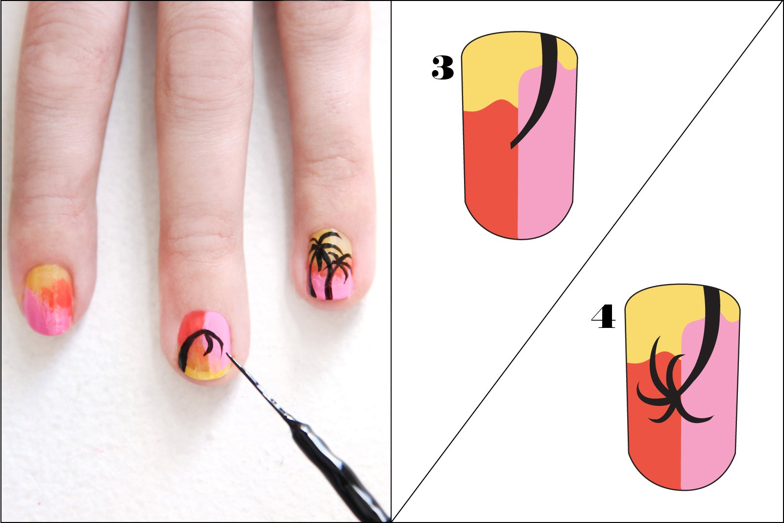 Palm Tree Finger Art Design - Decorate Your Digits