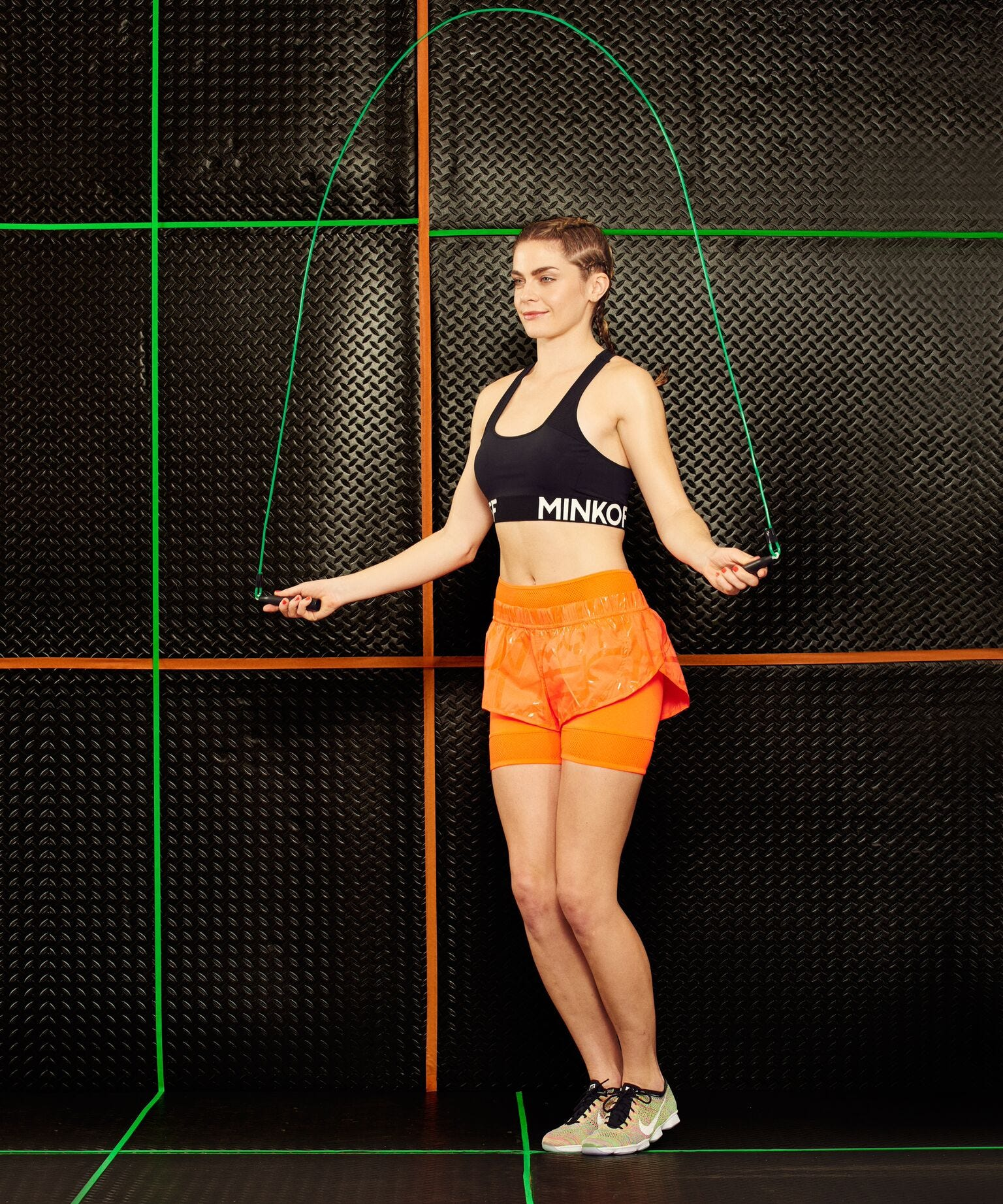 Jump rope video bunching breasts