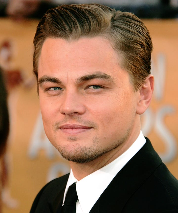 Leonardo Dicaprio Hair Style Then And Now Photos
