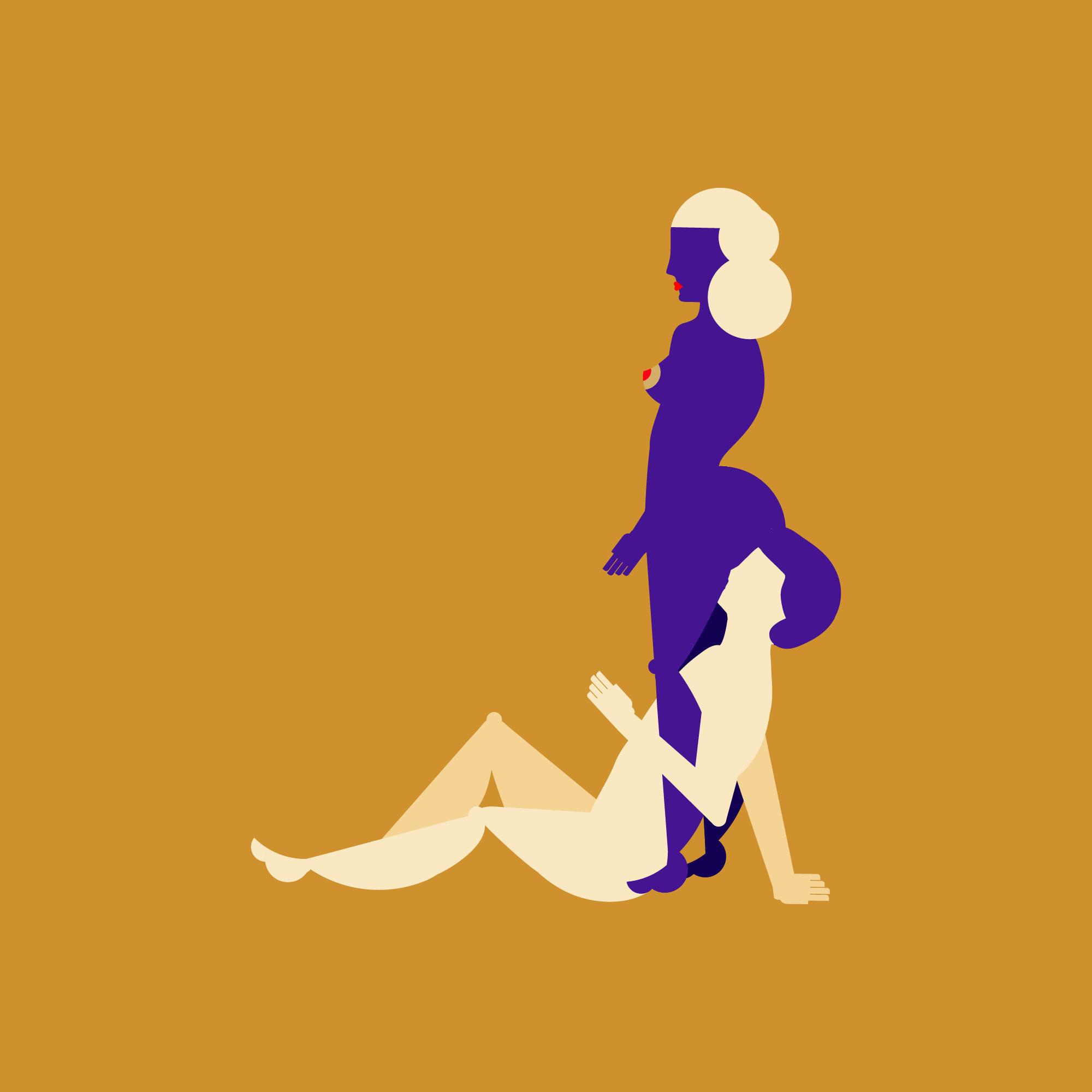 Lesbische Dreier-Porno-Bilder