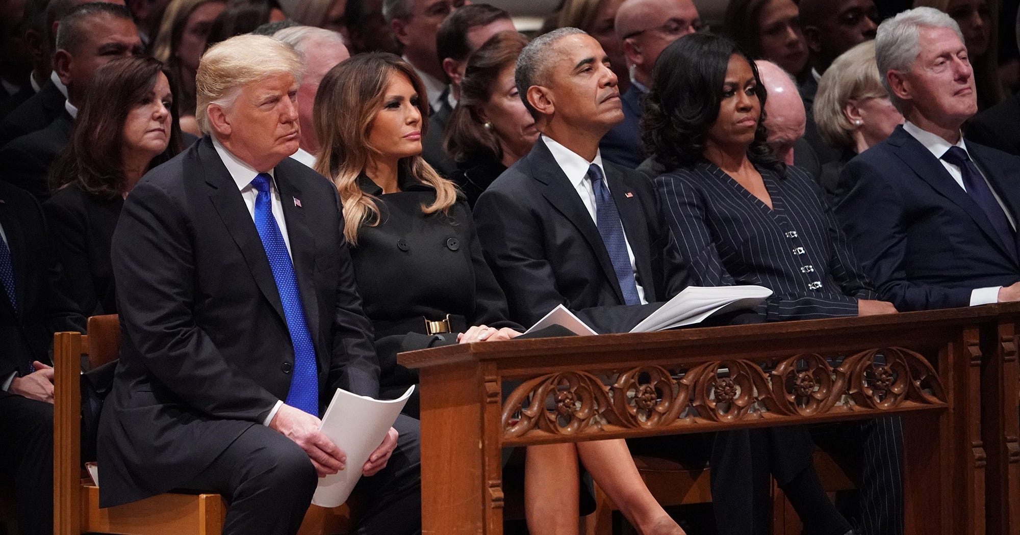 Michelle Obama Had To Sit Next To Trump Today — And Her Reaction Was Priceless.