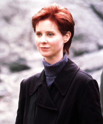 Cynthia Nixon Miranda Hobbes sex and the city SATC